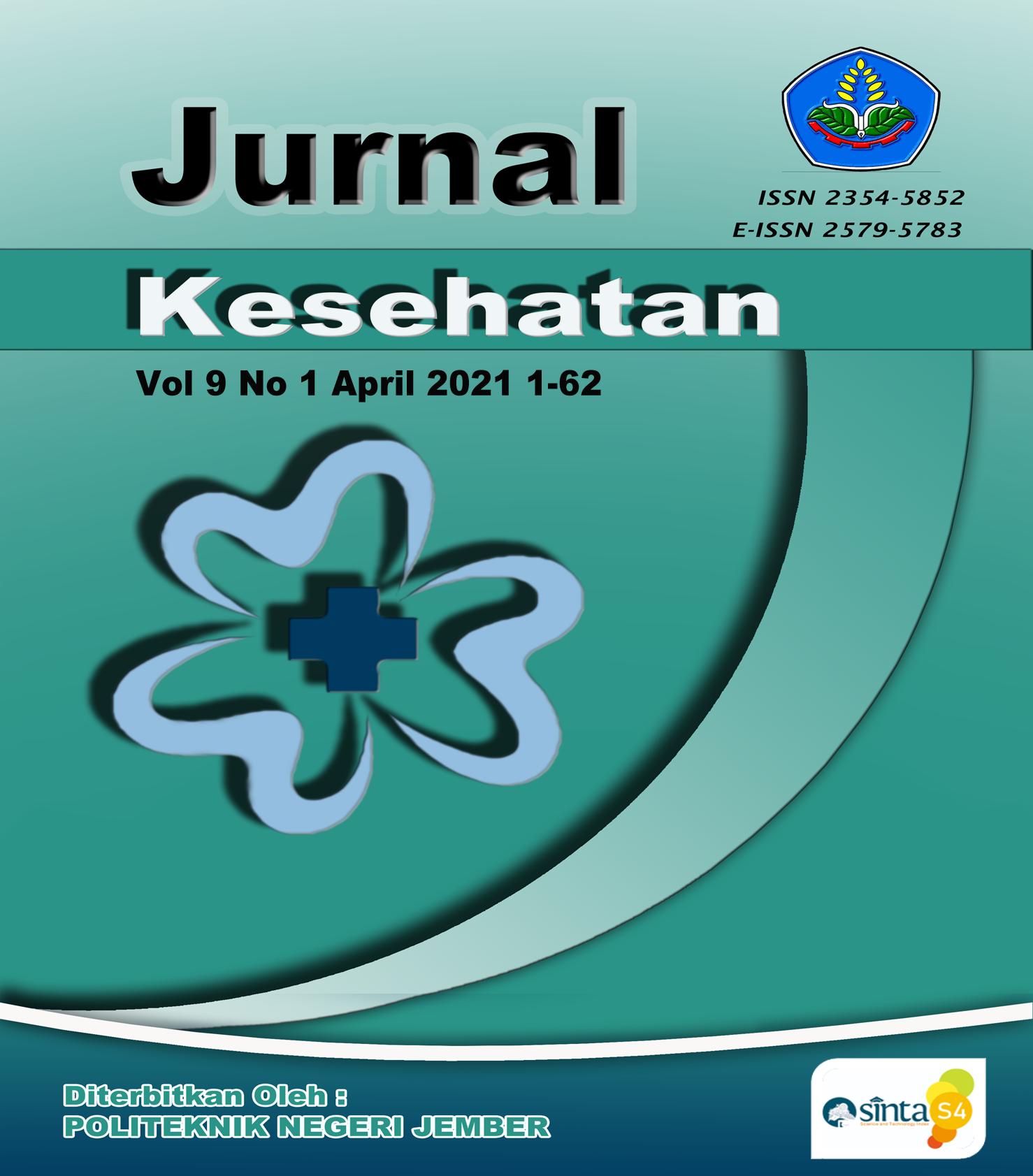Cover Jurnal Kesehatan Vol 9 No 1 April 2021